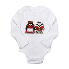 Mr. and Mrs. Claus Penguins Long Sleeve Infant Bod