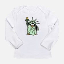 Statue of Liberty Penguin Long Sleeve Infant T-Shi