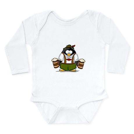 Oktoberfest Boy Penguin Long Sleeve Infant Bodysui