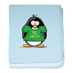 Go Green Penguin baby blanket