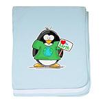 Love the Earth Penguin baby blanket
