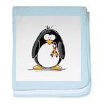 Autism Penguin baby blanket