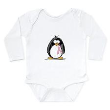 Breast Cancer penguin Long Sleeve Infant Bodysuit