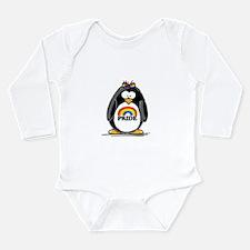 Gay Pride Girl Penguin Long Sleeve Infant Bodysuit