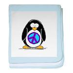 Peace penguin baby blanket