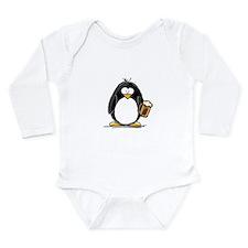 Beer Drinking Penguin Long Sleeve Infant Bodysuit