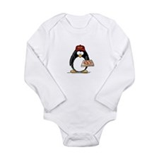 Pizza Penguin Long Sleeve Infant Bodysuit
