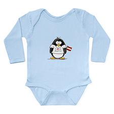 Austria Penguin Long Sleeve Infant Bodysuit