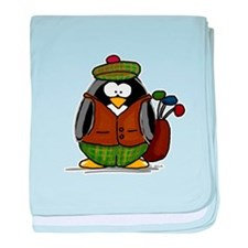 Golf Penguin baby blanket