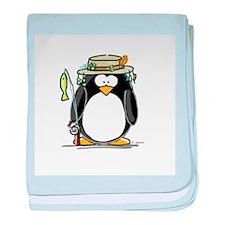 Fishing penguin baby blanket