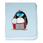 beach volleyball boy Penguin baby blanket