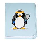 racquetball Penguin baby blanket
