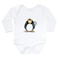 racquetball Penguin Long Sleeve Infant Bodysuit
