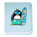 Surfing Penguin baby blanket