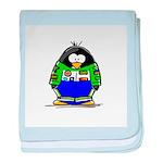 Race Car Penguin baby blanket