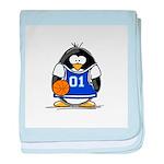 Basketball Penguin baby blanket