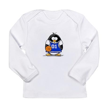 Basketball Penguin Long Sleeve Infant T-Shirt