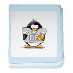 Silver Football Penguin baby blanket
