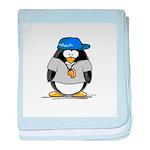 Coach penguin baby blanket