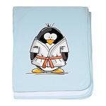 Martial Arts orange belt peng baby blanket