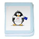 Alaska Penguin baby blanket