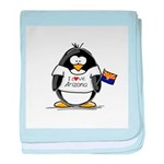 Arizona Penguin baby blanket