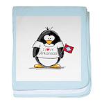 Arkansas Penguin baby blanket