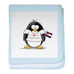 Colorado Penguin baby blanket
