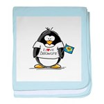 Delaware Penguin baby blanket