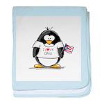 Ohio Penguin baby blanket
