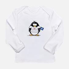 South Dakota Penguin Long Sleeve Infant T-Shirt