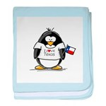 Texas Penguin baby blanket