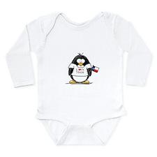Texas Penguin Long Sleeve Infant Bodysuit