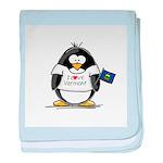 Vermont Penguin baby blanket