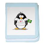 Washington Penguin baby blanket