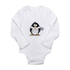 West Virginia Penguin Long Sleeve Infant Bodysuit