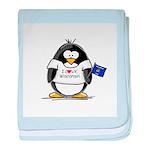 Wisconsin Penguin baby blanket