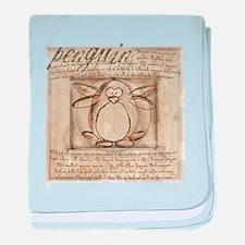 Vitruvian Penguin baby blanket