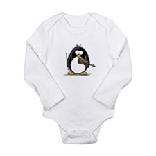 Violin Penguin Long Sleeve Infant Bodysuit