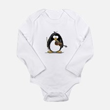 Violin Penguin Long Sleeve Infant Bodysuit