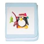 Clay Fishing Penguin baby blanket