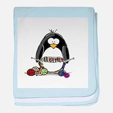 Knitting Penguin baby blanket