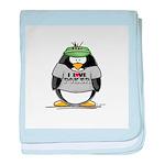 Love Poker Penguin baby blanket