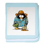 Treasure Hunter Penguin baby blanket