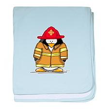 Fire Rescue Penguin baby blanket
