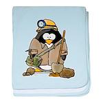 Miner Penguin baby blanket