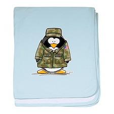 US Military Penguin baby blanket