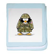 US Soldier Penguin baby blanket