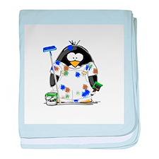 Painter Penguin baby blanket