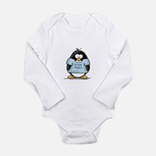 Proud Poppa penguin Long Sleeve Infant Bodysuit